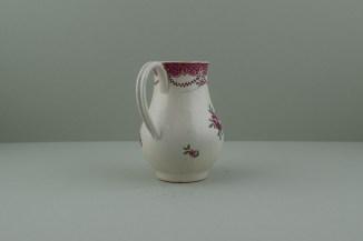 Liverpool Polychrome flower sprays pattern sparrow beak jug. e
