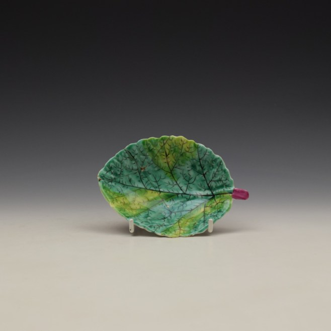Bow Porcelain Polychrome Pickle Leaf c1760-65 (1)