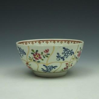 Worcester Queens Floral Pattern Sugar Bowl c1770 (3)