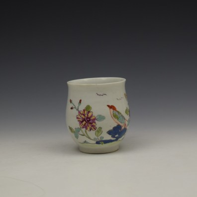 Derby Bird Peony and Rock Pattern Coffee Cup c1757-60 (2)