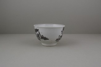 Worcester Porcelain Rare Fortune Teller Pattern Sucier base, C1765-70 (4)