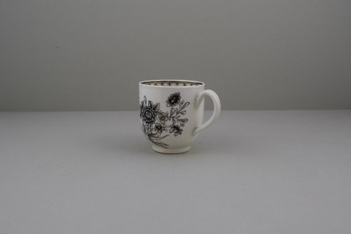 Worcester Pencilled Coffee Cup, C1765 (7)