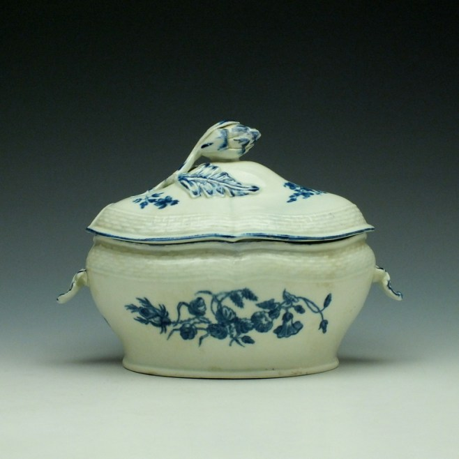 Worcester Wildflower Sprays Tureen and Cover c1775-80 (1)