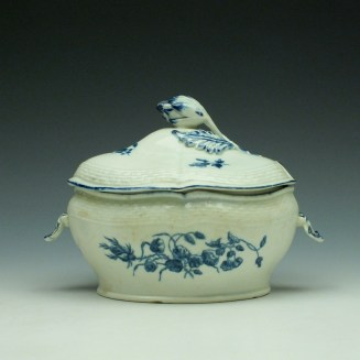 Worcester Wildflower Sprays Tureen and Cover c1775-80 (5)