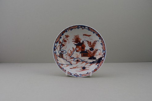Lowestoft Dolls House Fern Pattern Teabowl and Saucer, C1775-85 (10)