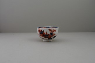 Lowestoft Dolls House Fern Pattern Teabowl and Saucer, C1775-85 (2)
