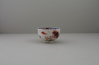 Lowestoft Dolls House Fern Pattern Teabowl and Saucer, C1775-85 (3)