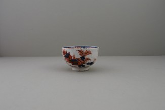 Lowestoft Dolls House Fern Pattern Teabowl and Saucer, C1775-85 (7)