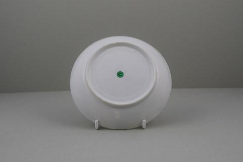 Lowestoft Porcelain Ribbed Flower band Border Pattern Teabowl and Saucer, C1770 (11)