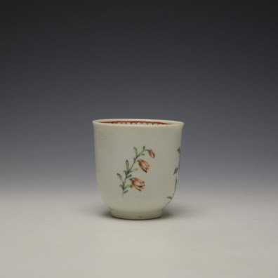 Liverpool Richard Chaffers Floral Pattern Coffee Cup c1760-64 (2)