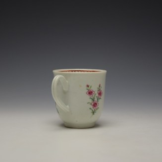 Liverpool Richard Chaffers Floral Pattern Coffee Cup c1760-64 (4)