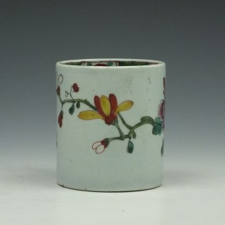 Liverpool Richard Chaffers Flowering Vine and Butterfly Pattern Coffee Can c1760 (2)