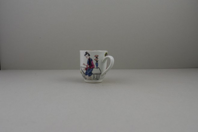 Liverpool Porcelain Richard Chaffers Mandarin Pattern Coffee Cup (6)