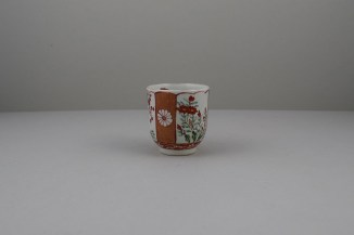 Liverpool Porcelain Richard Chaffers Scarlet Japan Pattern Coffee Cup, C1760 (3)