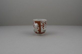 Liverpool Porcelain Richard Chaffers Scarlet Japan Pattern Coffee Cup, C1760 (5)