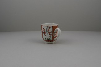 Liverpool Porcelain Richard Chaffers Scarlet Japan Pattern Coffee Cup, C1760 (6)