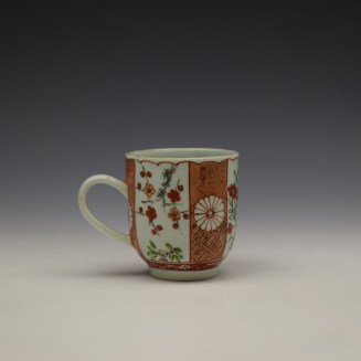 Liverpool Richard Chaffers Scarlett Japan Pattern Coffee Cup c1758-60 (3)
