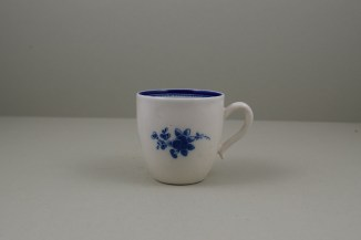 Caughley Salopian Sprigs Pattern Coffee Cup and Saucer, C1785-95 (11)