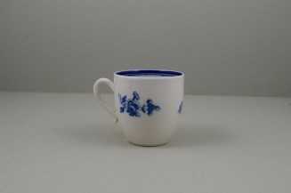 Caughley Salopian Sprigs Pattern Coffee Cup and Saucer, C1785-95 (14)