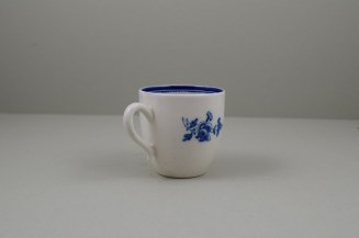Caughley Salopian Sprigs Pattern Coffee Cup and Saucer, C1785-95 (15)