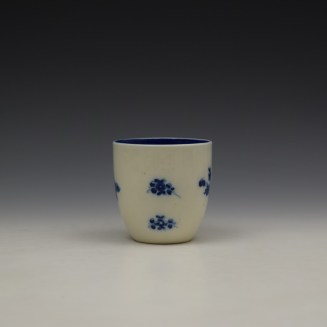 Caughley Salopian Sprigs Pattern Coffee Cupc1785-95 (2)