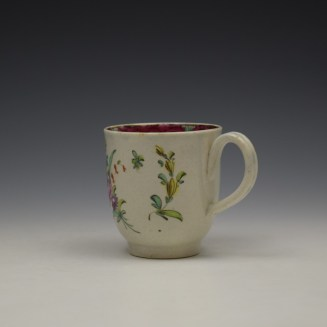 Liverpool Seth Pennington Floral Pattern Coffee Cup c1785 (6)