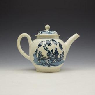 Liverpool Seth Pennington Lady and Servant Pattern Teapot and Cover c1790 (4)