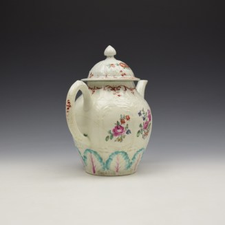 Liverpool Seth Pennington Moulded Floral Pattern Teapot and Cover c1785-95 (6)