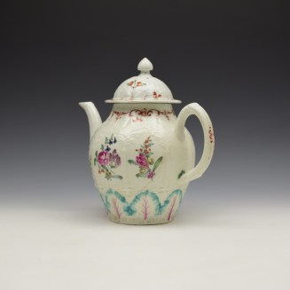 Liverpool Seth Pennington Moulded Floral Pattern Teapot and Cover c1785-95 (8)