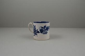 Liverpool Porcelain Seth Pennington Peony Pattern Coffee Can, C1790 (4)