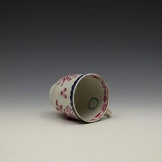 Liverpool Seth Pennington Puce Monochrome Floral Pattern Coffee Cup c1785 (8)