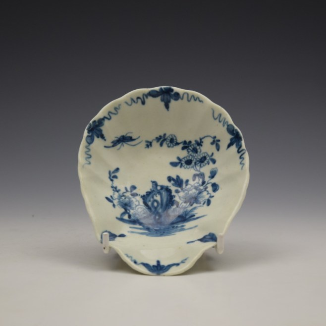Worcester The Two Peony Rock Bird Pattern Pickle Leaf c1758-60 (1)