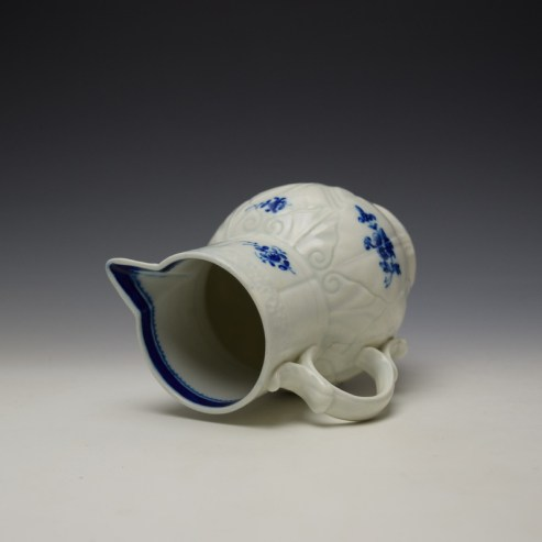 Caughley Salopian Sprigs Pattern Mask Spout Jug c1785-95 (7)