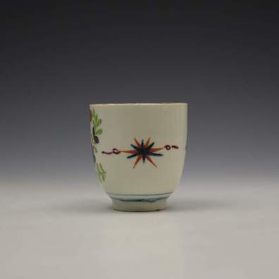 Worcester Starburst Pattern Coffee Cup c1770-80 (2)
