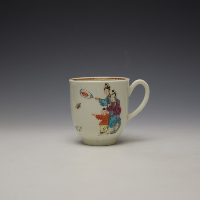 Worcester Tall Table Pattern Coffee Cup c1770 (1)