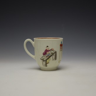 Worcester Tall Table Pattern Coffee Cup c1770 (3)