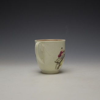 Worcester Tall Table Pattern Coffee Cup c1770 (4)