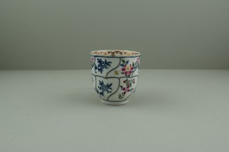 Worcester Porcelain The Floral Queens Pattern With Polychrome Flower Sprays Pattern Coffee Cup, C1770 (2)