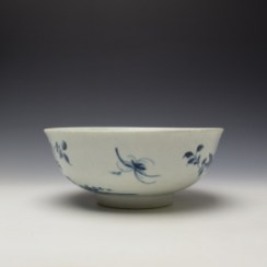 Worcester The Prunus Fence Pattern Large Bowl c1755-60 (4)