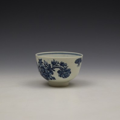 Lowestoft Three Flowers Pattern Teabowl and Saucer c1780-85 (6)