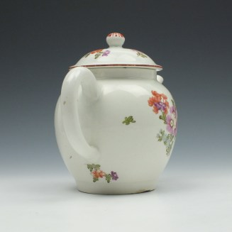 Lowestoft Porcelain Tulip Painter Teapot and Cover c1770 (5)