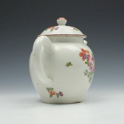 Lowestoft Porcelain Tulip Painter Teapot and Cover c1770 (5)