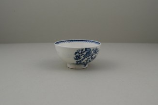 Lowestoft Two Peacock and Peony Pattern Teabowl and Saucer, C1775-80 (3)