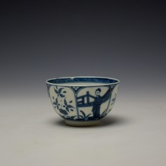 Worcester Arcade Pattern Teabowl and Saucer c1765-70 (4)