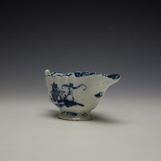 Lowestoft Chinese Island and Pagoda Pattern Butterboat c1765 (4)