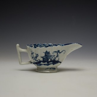 Lowestoft Chinese Island and Pagoda Pattern Butterboat c1765 (5)