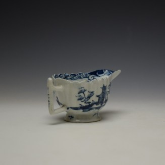 Lowestoft Chinese Island and Pagoda Pattern Butterboat c1765 (6)