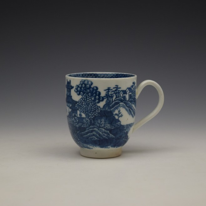 Caughley Fenced Garden Pattern Coffee Cup c1782-92 (1)