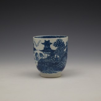 Caughley Fenced Garden Pattern Coffee Cup c1782-92 (2)