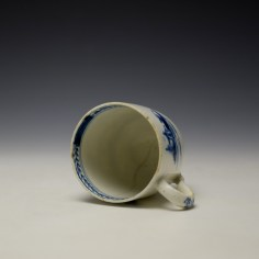 Lowestoft Gatehouse and Walled Garden Pattern Coffee Cup and Saucer c1785-90 (7)
